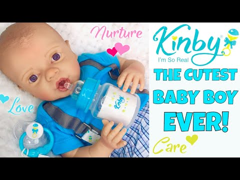 Download Video 💙Kinby Boy Doll - Baby Nathan! 👶🏻Ultra Realistic Baby Doll Made From 3D Scans Of A Real Baby! 🤗