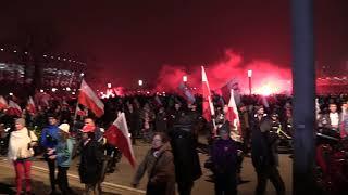 Marsz Niepodległości 11.11.2018 - Błonie stadionu Narodowego