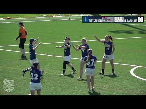 Video Thumbnail: 2018 College Championships, Women's Pool Play: Pittsburgh vs. North Carolina