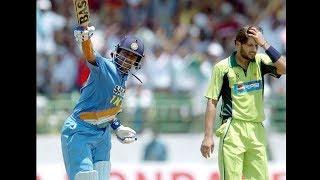 1st ODI Century  Mahendra Singh Dhoni 148 (123) 1st ODI Century v Pakistan at Vizag 2005