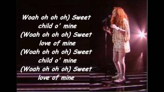 Janet Devlin - Sweet Child Of Mine (With Lyrics) Live Show 3