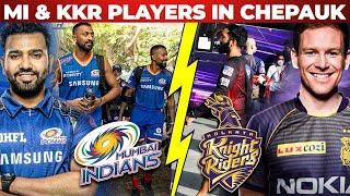 MI & KKR's Mass Entry in Chepauk Stadium   Mumbai Indians   Kolkata Knight Riders   IPL 2021