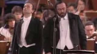 Pavarotti Carreras Domingo - Cielito Lindo - live  lyrics  Roma 1990