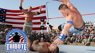 John Cena, Batista & Rey Mysterio vs. Randy Orton & Jeri-Show: Tribute to the Troops, Dec. 20, 2008 width=