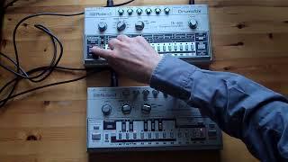 TB 303 Bassline synced with TR 606 Drumatix – Raw Acid House