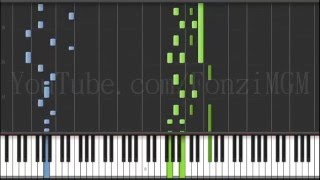 """[Undertale OST] """"Death by Glamour"""" - Toby Fox (Piano Solo - Synthesia Tutorial)  [MIDI + Sheets DL]"""