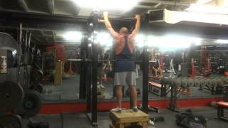 Tom Chipman 160 lbs. x 8 Overhead Press / 8 Pull-ups (Superset 3 of 4)