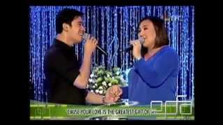 Sharon Cuneta sings 'Your Love' with Erik Santos