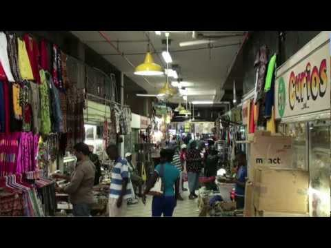 The Durban Victoria street market (South Africa)