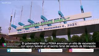 Gobernador Walz y FEMA anuncian un sitio de vacunación con apoyo federal en el recinto ferial del MN