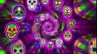 Sugar Skulls in endless zoom free VJ clip