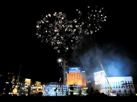 Performance 'Multiverse' on the Independence Square in Kyiv, Ukraine