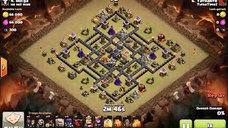 "The best 3 star attack strategy on town hall 9 ""tailor base"" - clash of clans (GoHoWiWi Earthquake)"