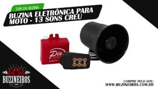 Buzina Eletrônica para Moto   13 Sons Creu