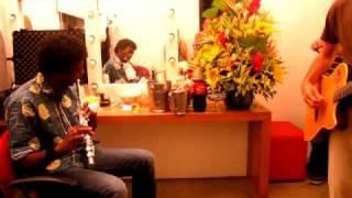 Sonoridades 2011 | No camarim de Seu Jorge e Almaz