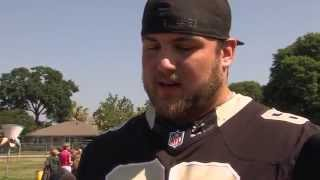 Saints player, Tom Lelito, is in line to be the starting center this year