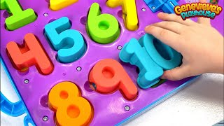 Best Learning Videos for Kids Candy Toys -  Genevieve Teaches Toddlers Numbers & Colors Educational