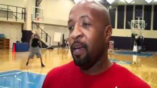 Anthony Carter joins Chris Andersen & Andre Miller in Pepsi Center Workouts - December 2, 2011
