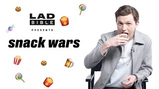 Marvel Studios' Avengers: Infinity War Tom Holland Aka Spider-Man Eating British And American Snacks