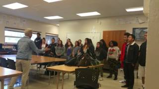 Burton high school choir singing moana
