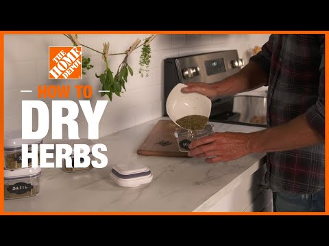 Video showing how to dry herbs.