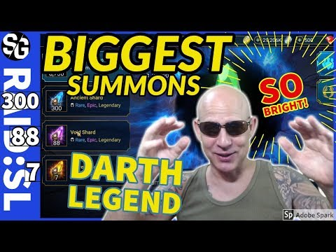 RAID SHADOW LEGENDS | BIGGEST SUMMONS EVER! DARTH LEGEND