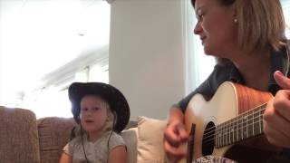 Olivia 5 years old kid and Lisbeth Hauge sings Wagon Wheel cover song