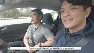 Jericho Rosales with the Hyundai Tucson on O Shopping x Hyundai