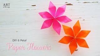 DIY 6 Petal Paper Flowers | Flower Making | DIY width=