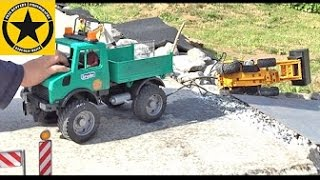 BRUDER TOY TRUCKS for CHILDREN Unimog Rescues JCB-Midi Loader in Miniatur Wunderland