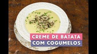Receita - Creme de Batata com Cogumelos