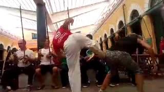 Roda de capoeira no mercado fevereiro 2017 mestre polegar e drycka