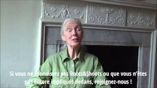 Jane Goodall appelle la jeunesse belge à rejoindre Roots&Shoots!