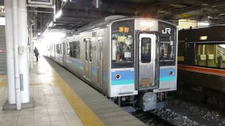 篠ノ井線E127系 長野駅発車 JR East Shinonoi Line E127 series EMU