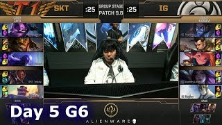 SK Telecom T1 vs Invictus Gaming | LoL MSI 2019 Group Stage Day 5 | SKT vs IG