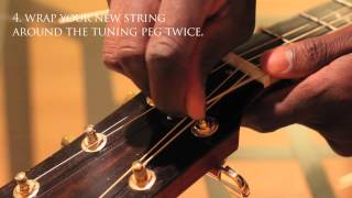 How to Restring an Acoustic Guitar in 2 minutes! - ColinResponse