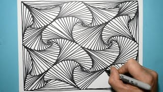COOL DRAWING PATTERN YOU'LL WANT TO TRY RIGHT AWAY
