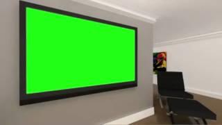 free hd virtual studio set with green screen