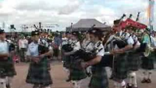 Band of the U.S. Air Force Reserve Pipe Band in the UK