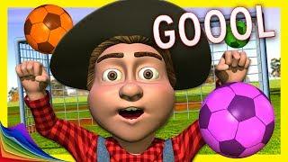 Fútbol con balones de Colores en la Granja de Zenón | Aprender los Colores | A Jugar