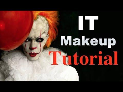 Halloween Sminkek.It Pennymise Halloween Makeup Tutorial It Pennywise