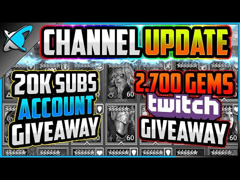 CHANNEL UPDATE... | Account Giveaways + 2,700 Gems Giveaway | RAID: Shadow Legends