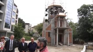 Тържествен ритуал в новостроящата се арменска църква в Ямбол