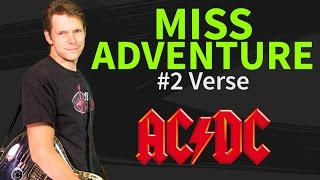 How to play Miss Adventure Guitar Lesson #2 Verse - AC/DC