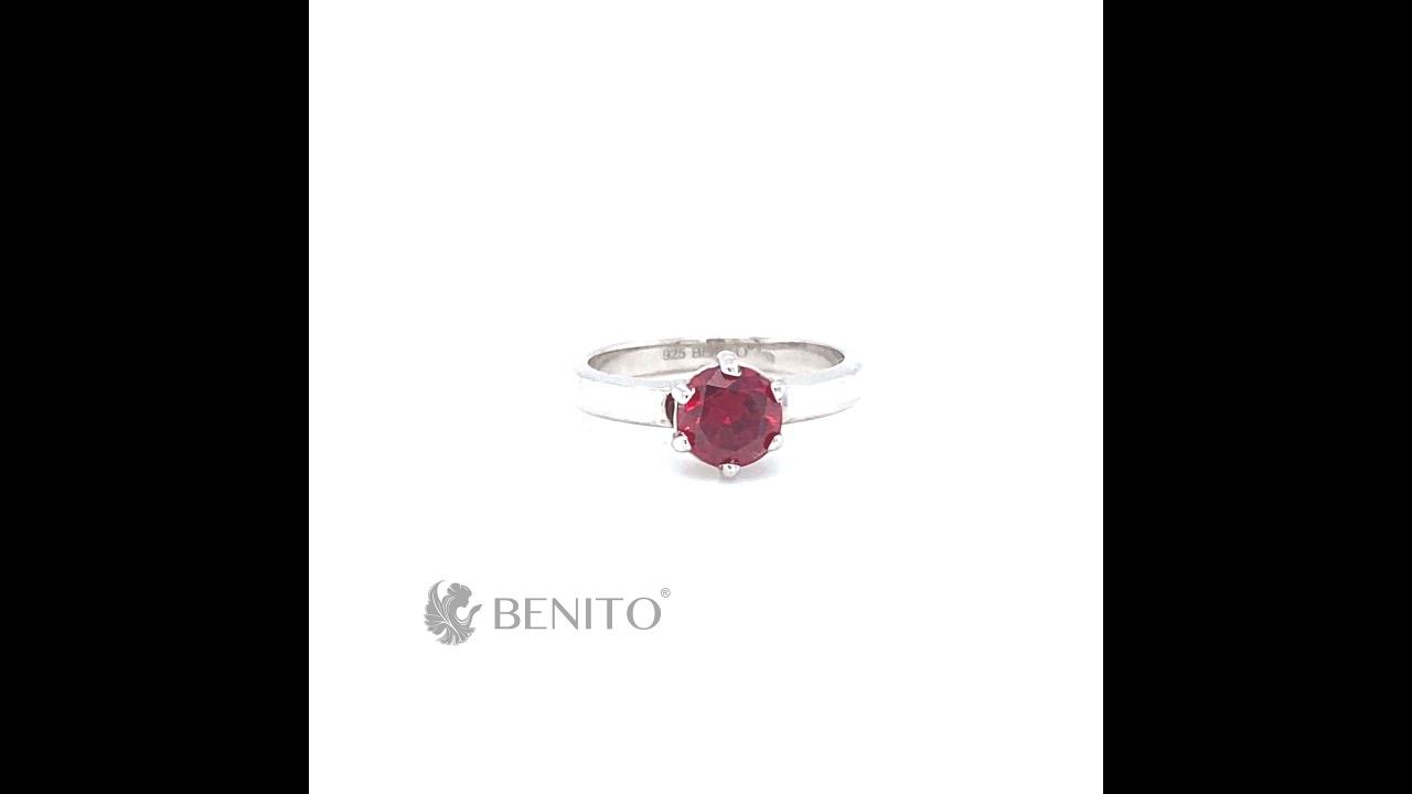 Marta Ring Red Zircon Stone