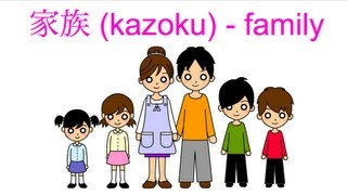 Japanese vocabulary - Family Members in Japanese