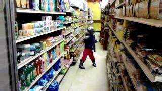KD dancing at Tarimoro Mexican Foods