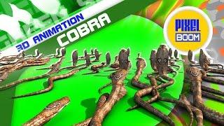 Green Screen Invasion of Cobra Snakes - Footage PixelBoom