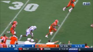Quincy Wilson makes one-handed interception - Kentucky vs Florida