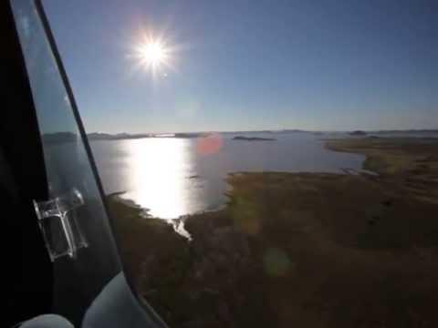 Flying over Gariep Dam